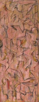 untitled (study for khatchdzar [tree of the cross]) by arshile gorky